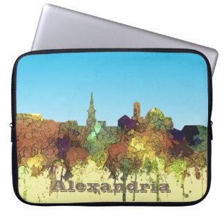 Alexandria, Viirginia Skyline - SG - Safari Buff Laptop Sleeve