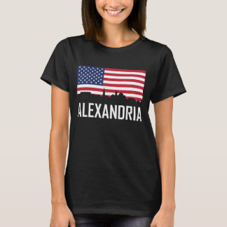 Alexandria Virginia Skyline American Flag T-Shirt
