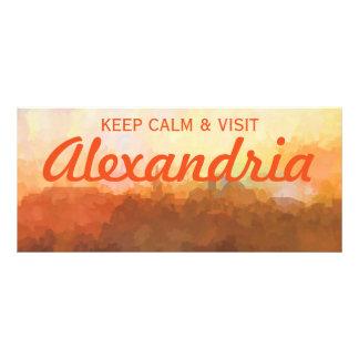 Alexandria Virginia Skyline IN CLOUDS Rack Card Template