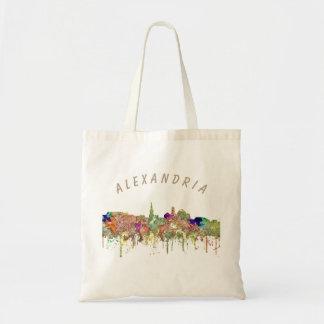 Alexandria, Virginia Skyline SG Faded Glory Tote Bag