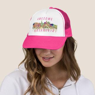 Alexandria,Virginia Skyline SG - Faded Glory Trucker Hat
