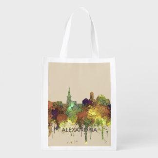Alexandria, Virginia Skyline - SG - Safari Buff Reusable Grocery Bag