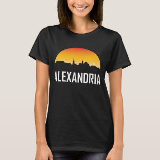 Alexandria Virginia Sunset Skyline T-Shirt