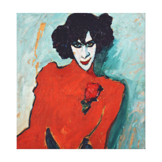 Alexej Jawlensky Portrait of the Dancer Aleksandr Canvas Print
