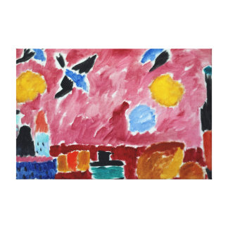 Alexej von Jawlensky Still Life with Bottle, Bread Canvas Print