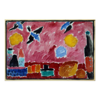 Alexej von Jawlensky Still Life with Bottle, Bread Poster