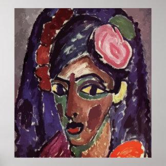 Alexey von Jawlensky - Head of a Girl (Vector) Poster