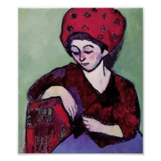 Alexey von Jawlensky - Helene with turban Poster