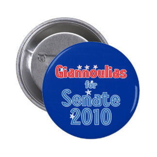 Alexi Giannoulias for Senate 2010 Star Design 6 Cm Round Badge