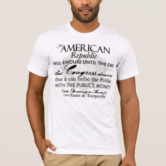 Alexis de Tocqueville Quote: America's Lifetime T-Shirt