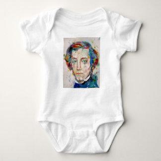 alexis de tocqueville - watercolor portrait baby bodysuit