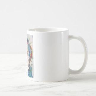 alexis de tocqueville - watercolor portrait coffee mug