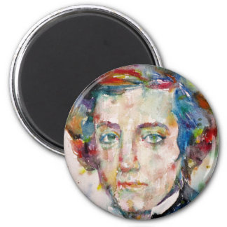 alexis de tocqueville - watercolor portrait magnet