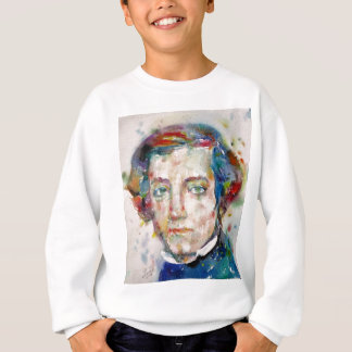 alexis de tocqueville - watercolor portrait sweatshirt