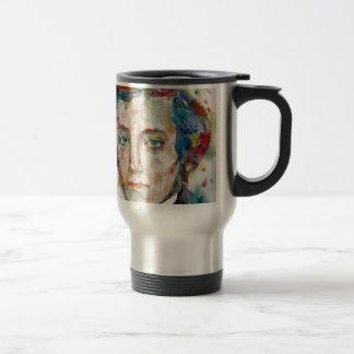 alexis de tocqueville - watercolor portrait travel mug