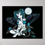 Alexis Flower Moon Angel Poster