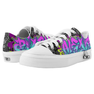 Alexis in Graffiti Printed Shoes