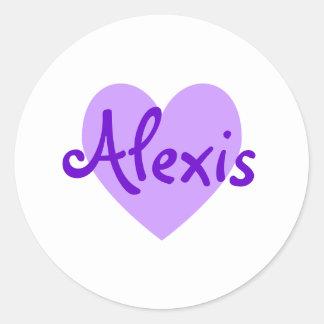 Alexis in Purple Classic Round Sticker