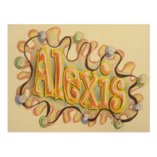 Alexis - name card postcard