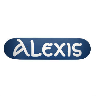 Alexis name skateboard skate board deck