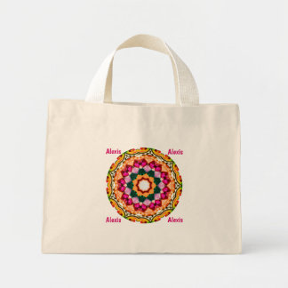 ALEXIS ~ Personalized Gem Stone Fractal ~ Mini Tote Bag