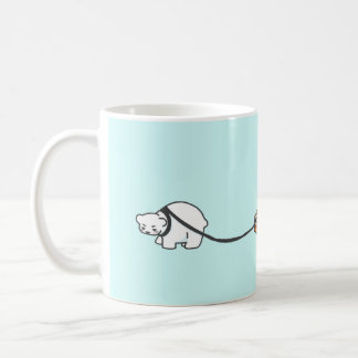 Alexis the Polar Bear with their typewriter- Mug