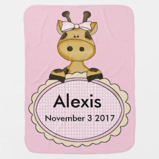 Alexis's Personalized Giraffe Baby Blanket
