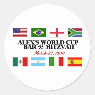 alex's-logo round sticker