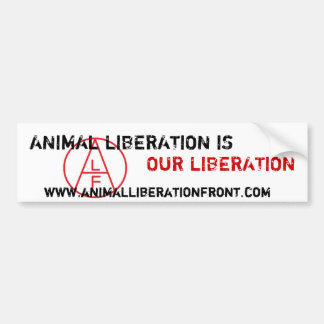ALF Animal Liberation is Our Liberation Bumper Sticker