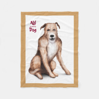 Alf The Workshop Dog Fleece Blanket