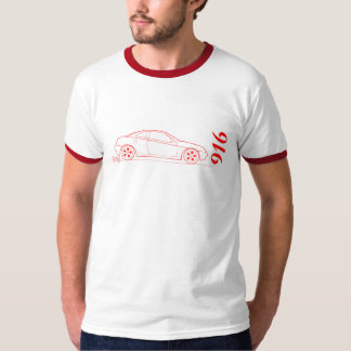 Alfa 916 Gtv from side - outline in red T-Shirt