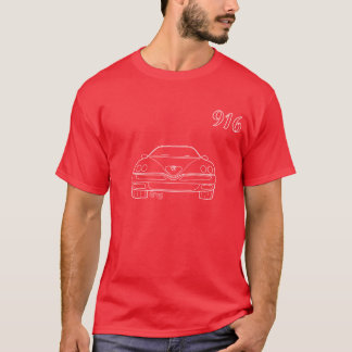 Alfa 916 GTV Spider outline T-shirt  Red