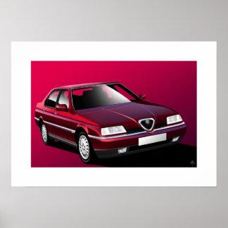Alfa Romeo 164 Poster