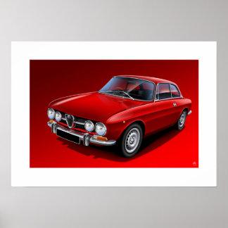 Alfa Romeo 1750 GTV Poster Illustration