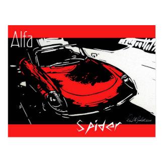 Alfa Spider Postcard