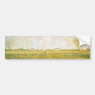 Alfalfa Fields Saint Denis by Georges Seurat Bumper Sticker