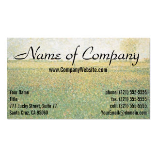 Alfalfa Fields Saint Denis by Georges Seurat Pack Of Standard Business Cards