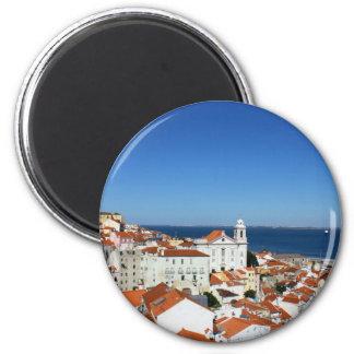 Alfama, Lisbon, Portugal 6 Cm Round Magnet