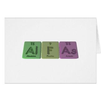 Alfas-Al-F-As-Aluminium-Fluorine-Arsenic Greeting Cards