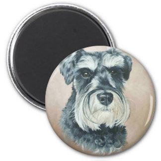 Alfie - miniature schnauzer magnet