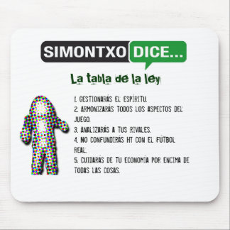 Alfombrilla La tabla de la ley Mouse Pad
