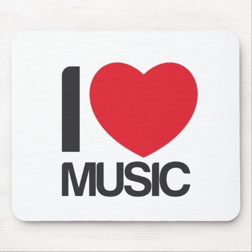Alfombrilla raton I love music Mouse Pad