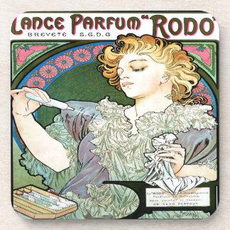 Alfons Mucha 1896 Lance Parfum Rodo Coaster