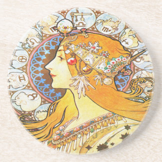 Alfons Mucha 1896 Zodiac Coaster