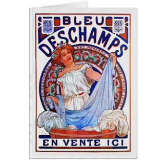 Alfons Mucha 1897 Bleu Deschamps Card
