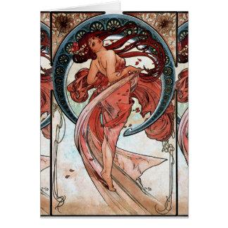 Alfons Mucha 1898 Dance Card