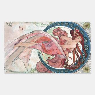Alfons Mucha 1898 Dance Rectangular Sticker