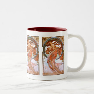 Alfons Mucha: Dance Two-Tone Coffee Mug