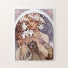 Alfons Mucha: Flower Jigsaw Puzzle