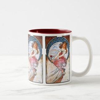 Alfons Mucha: Muse of Painting Two-Tone Mug